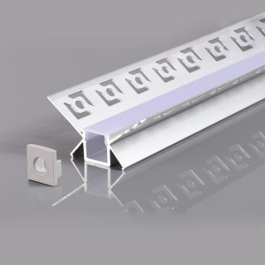 ALUMINIUM PROFILE FOR LED STRIP GRAY L=2m 48x28mm