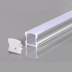 ALUMINIUM PROFILE FOR LED STRIP GRAY L=2m 17.2x14.4x12mm