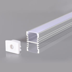 ALUMINIUM PROFILE FOR LED STRIP GRAY L=2m 17.2x14.3x12.6mm