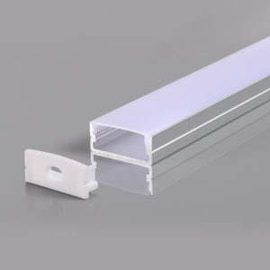 ALUMINIUM PROFILE FOR LED STRIP GRAY L=2m 23.5x10x21.5mm