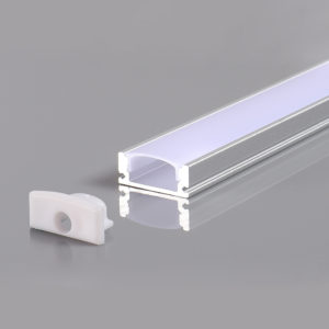 ALUMINIUM PROFILE FOR LED STRIP BLACK BODY L=2m 17.4x7x12.4mm