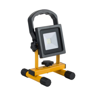 10W LED PORTABLE RECHARGEABLE SMD FLOODLIGHT 600LM 6000K - IP44
